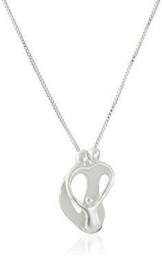 """Sterling Silver """"Loving Family"""" Parents with One Child Pendant Necklace, 18"""" Amazon Collection http://www.amazon.com/dp/B000PAS9QW/ref=cm_sw_r_pi_dp_9Ixbxb15N8K3R"""
