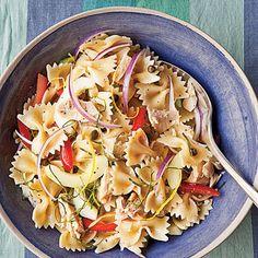 Italian Tuna with Bow Ties, Black Pepper, and Olive Oil Recipe | MyRecipes.com