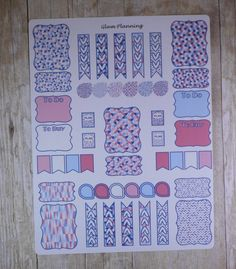 Pink and Blue Geometric Sampler Functional by GlamPlanning on Etsy