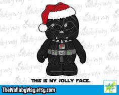 Darth Vader This Is My Jolly Face Christmas- Disney Vacation Shirt Design or Clipart Disney Vacation Shirts, Disney Vacations, Disney Star Wars, Disney Christmas, I Shop, Shirt Designs, Darth Vader, Clip Art, Messages