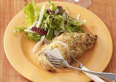 Oven-Baked Chicken Breasts with Lemon-Mustard Arugula Salad - Bon Appétit