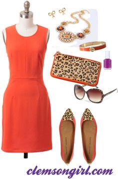 Clemson Girl Gameday Look - Tailgate in the Wild Football Fashion, Football Outfits, Jw Fashion, Autumn Fashion, Material Girls, Fall Winter Outfits, Spring Summer Fashion, Orange Outfits, Girls Dresses