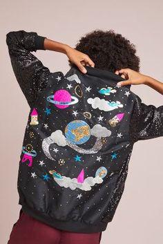 8a51aedf Anthropologie Space Sequined Bomber Jacket Kids Fashion Boy, Vinterfrakker,  Casual Winter, Internet,