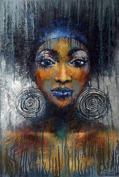 "fyblackwomenart: """"Charm"" an Oil Painting on Canvas, by Viktorija Lapteva from the Ukraine """