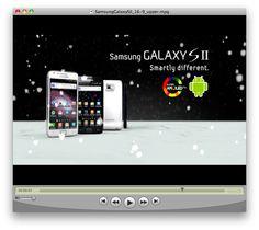 Samsung Galaxy SII Commercial by Sara Saviello, via Behance