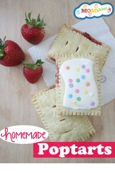 Homemade Poptarts with real fruit. You can make with any fresh fruit or jam you like!