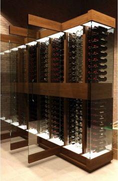 Cave a Vin Design - contemporary - wine cellar - other metro - karltdw Sauvignon Blanc, Cabernet Sauvignon, Cave A Vin Design, Deco Restaurant, Wine Cellar Design, Wine Design, Home Wine Cellars, Drink Bar, Wine Display