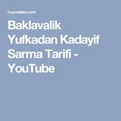 Baklavalik Yufkadan Kadayif Sarma Tarifi - YouTube