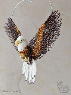 Bald Eagle Suncatcher Beaded Bird Ornament Eagle by AlulaCreations