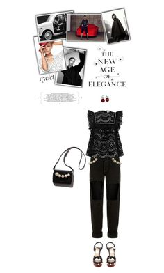 """Black, White & Red: Eyelet Top"" by the-amj ❤ liked on Polyvore featuring Forte Couture, Zimmermann, Gucci and Tamara Mellon"