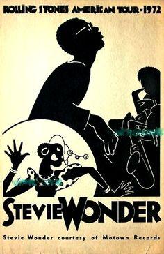 Stevie Wonder: '72 gig poster