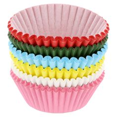 Assorted Standard Size 2.5 in Cupcake Baking Cups, 600 Pack > You can get additional details, click the image : Small Pastry Molds