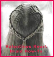 PR Friendly Mom Blogger -MomsReview4You: Valentines Heart Braid How-To