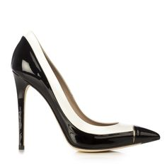 Le Silla - Pump In Fluid, Black And White Patent Leather - http://womenspin.com/shoes/le-silla-pump-in-fluid-black-and-white-patent-leather/