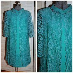 Vintage 1960's / Crepe Dress Suit / Lace Jacket / by CicelysCloset