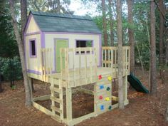plans and cost break down to build this play house!!! Maybe my kids will want to play outside now...