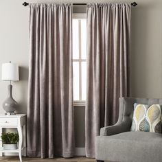 Luxe Velvet Curtain Panel - 18106651 - Overstock.com Shopping - Great Deals on Curtains