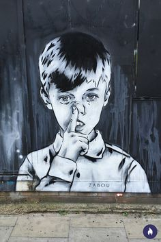 Lovely street art. We should all become like children, right?