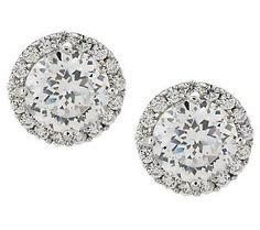Tacori IV Diamonique Epiphany 2.30 ct tw Halo Stud Earrings