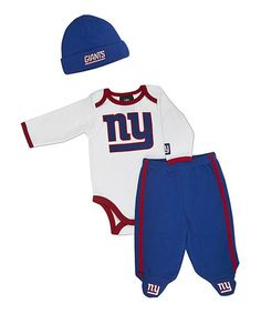 Take a look at this White New York Giants Footie Pants Set - Infant by NFL on #zulily today!