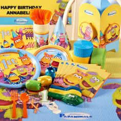Pajanimals+1st+Birthday+Deluxe+Party+Pack+for+8
