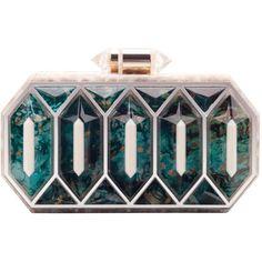 Buzios Minaudière ($1,645) ❤ liked on Polyvore featuring bags, handbags, clutches, purses, borse, сумки, print purse, chain purse, african purses and handbag purse