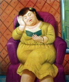 fernando botero | Fernando Botero, Mujer Leyendo, 2003