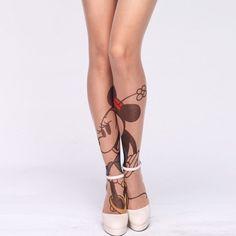 Minnie Mouse Tattoo Tights