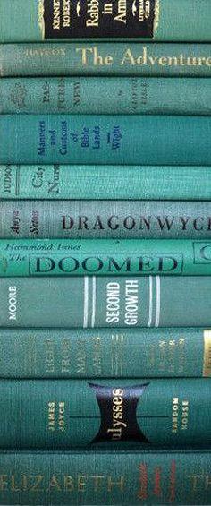 teal, books ✿⊱╮