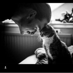 Chester and his animals. Omg! Look at how calm the cat is. So cute.. :3