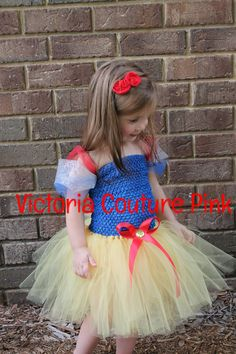Snow white princess inspired tutu dress by Victoriacouturepink