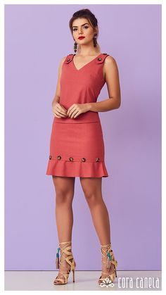 8de45371f 20 melhores imagens de Saia coral | Coral skirt, Blouses e ...