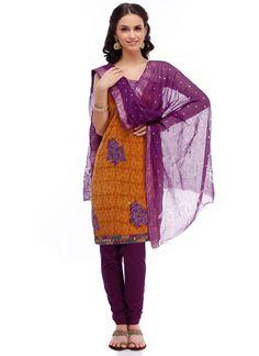 Ochre Cotton Salwar Suit
