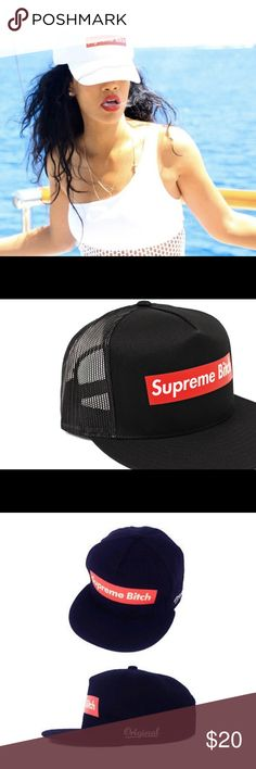3617aba480e Shop Women s Supreme Black size OS Hats at a discounted price at Poshmark.