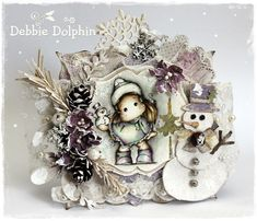 Magnolia cards by Debbie: Tilda with Snowman