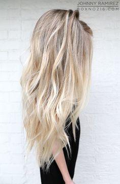 Hair Color by JOHNNY RAMIREZ • IG: @johnnyramirez1 • Ramirez|Tran Salon • 310.724.8167 • info@ramireztran.com // #ramireztran #johnnyramirez #ramireztransalon #boxno216 #beautifulhair #wavyhair #beforeandafter #highlights #blonde #beverlyhills #hairinspiration #summerhair #beachhair #colorcorrection