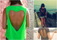 Looking for new spring and summer outfit ideas ? Diy clothing projects , as well as t shirt cutting ideas have become one of the famoust fast growing fashion trends Cut Up Tees, Cut Up Shirts, Old T Shirts, T Shirt Diy, Diy Clothing, Refashion, Diy Fashion, Dress To Impress, Cute Outfits