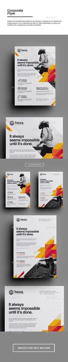 Corporate Flyer — PSD Template #flyer #promotion • Download ➝ https://graphicriver.net/item/corporate-flyer/18121003?ref=pxcr
