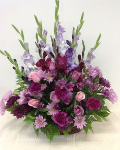 Lavenders and links Funeral Floral Arrangements, Easter Flower Arrangements, Beautiful Flower Arrangements, Beautiful Flowers, Altar Flowers, Church Flowers, Silk Flowers, Memorial Flowers, Cemetery Flowers