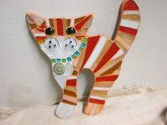 Ginger striped mosaic cat £15.00