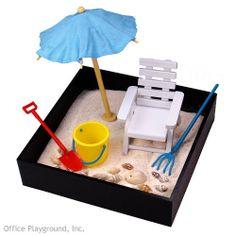 Executive Sandbox Mini Beach Break! LOL!! Totally love this. Too cute.