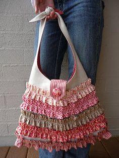 Oh, what a sweet ruffled tote bag