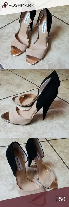 Steve Madden NWOT Brand NEW! 🌸 Steve Madden black and tan peep toe heels! If you have any questions let me know! Can ship out asap! Steve Madden Shoes Heels