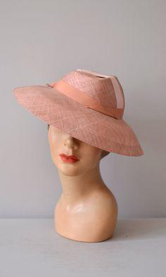 Morecambe hat 1940s platter hat vintage 40s hat by DearGolden