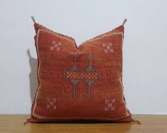 beautiful Moroccan handmade cactus silk pillow, decorative throw Pillow covers, Home Décor, CSP131