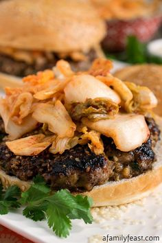 These Asian Burgers are full of fantastic flavor!