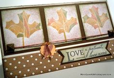 Mary Gunn FUNN - leaf / marker CTMH card.