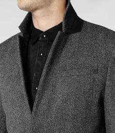 Mens Howard Coat (Charcoal) | ALLSAINTS.com