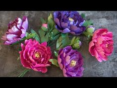 How To Make A Paper Peony With Frosted Paper - YouTube