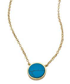 Nyla Star Samantha Gold and Turquoise Pendant Necklace #maxandchloe